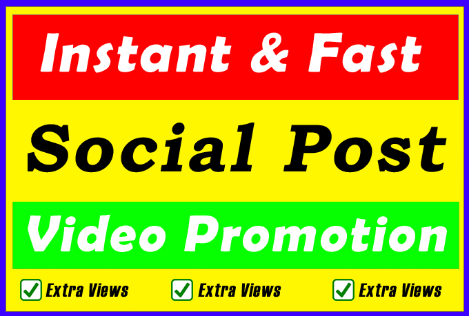 High Quality Social Video Views Promotion for improve Ranking Markting