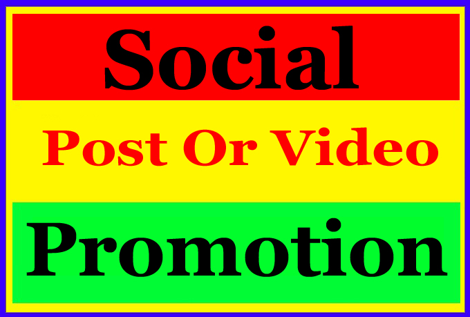High Quality Social Video and Post Promotion for improve Ranking Markting