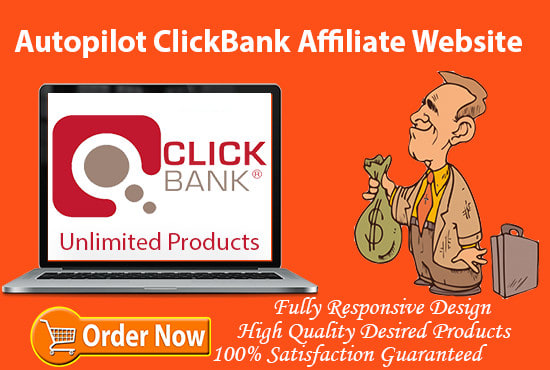 I will create clickbank automated affiliate website