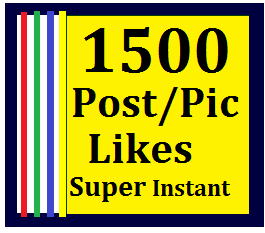 Instant 1500+ Likes In Pic Or 10,000 Views in Video Super Instant