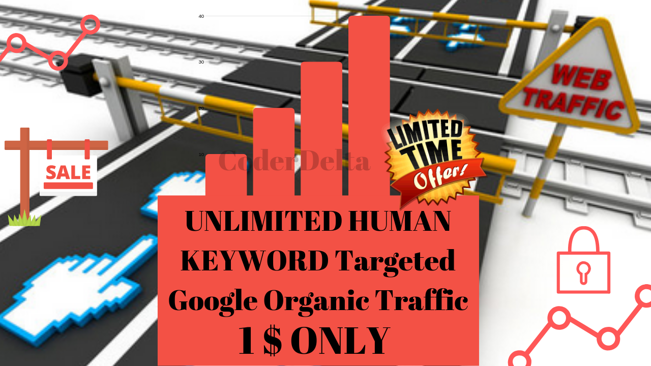 UNLIMITED HUMAN KEYWORD Targeted Google Organic Traffic