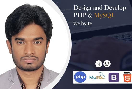 Full Web Site Development Using functional PHP/MySQL/JQUERY