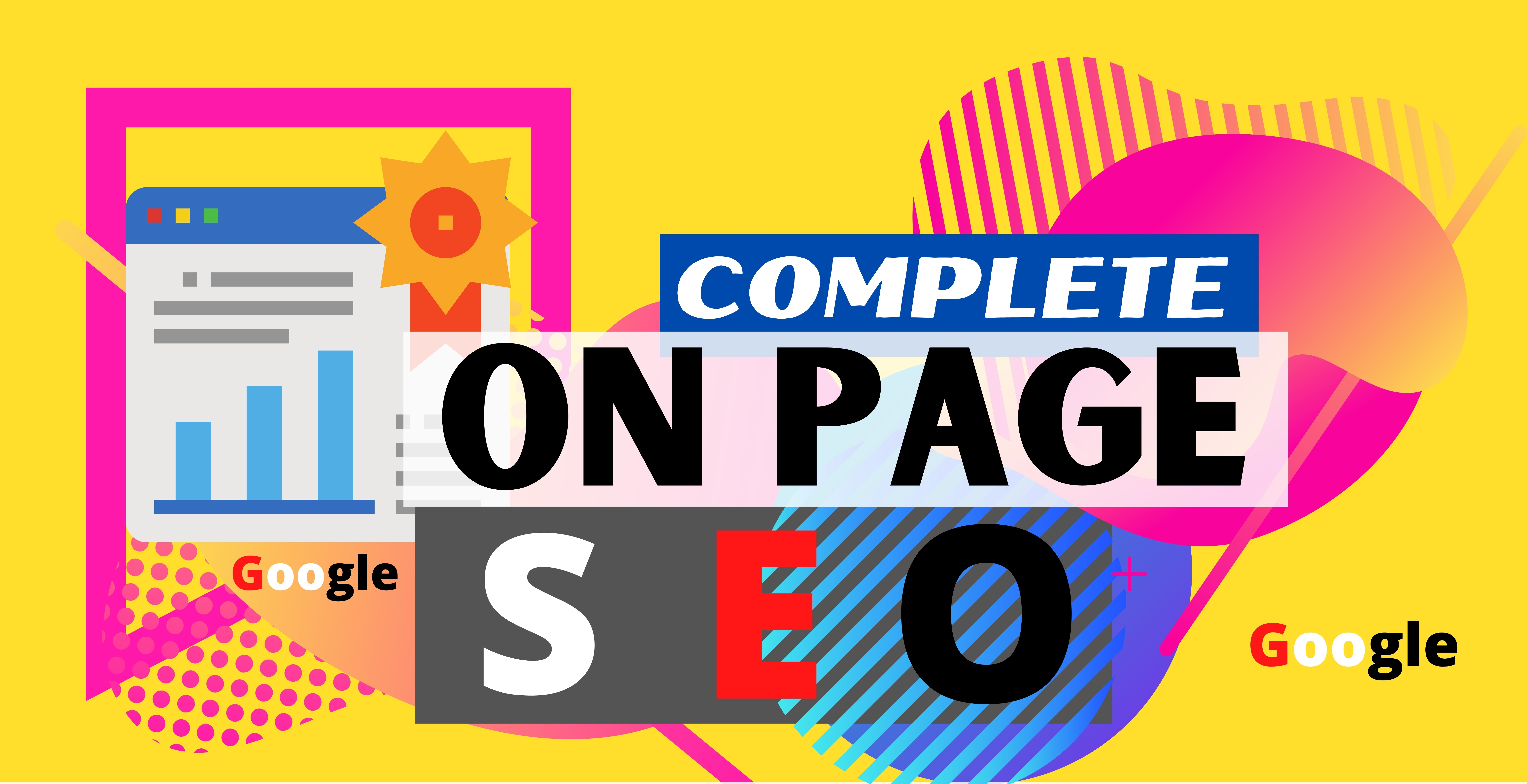 Complete On Page SEO Service for a Website