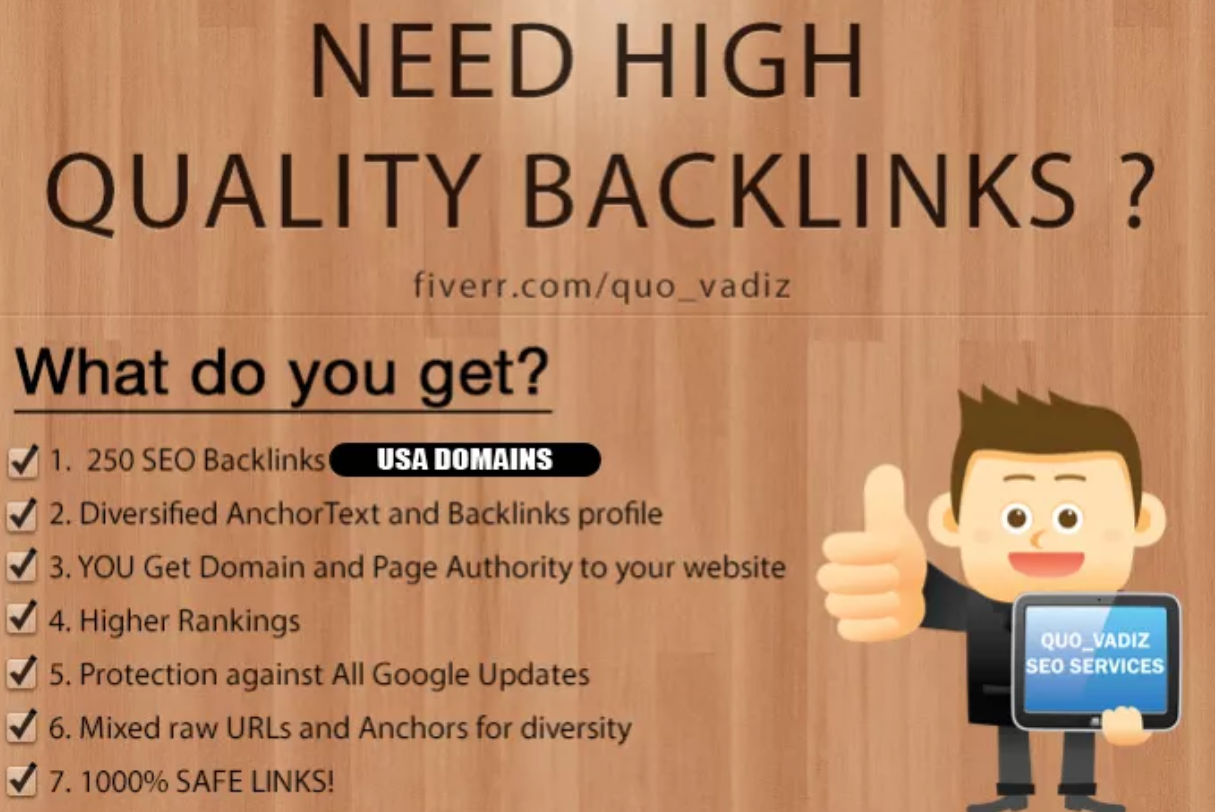 I will 250 high quality backlinks improves SEO in 2020