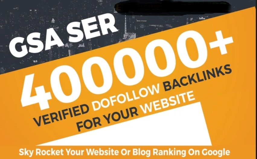 400,000 GSA backlinks for websites,  YouTube, pages, products to get quick ranking
