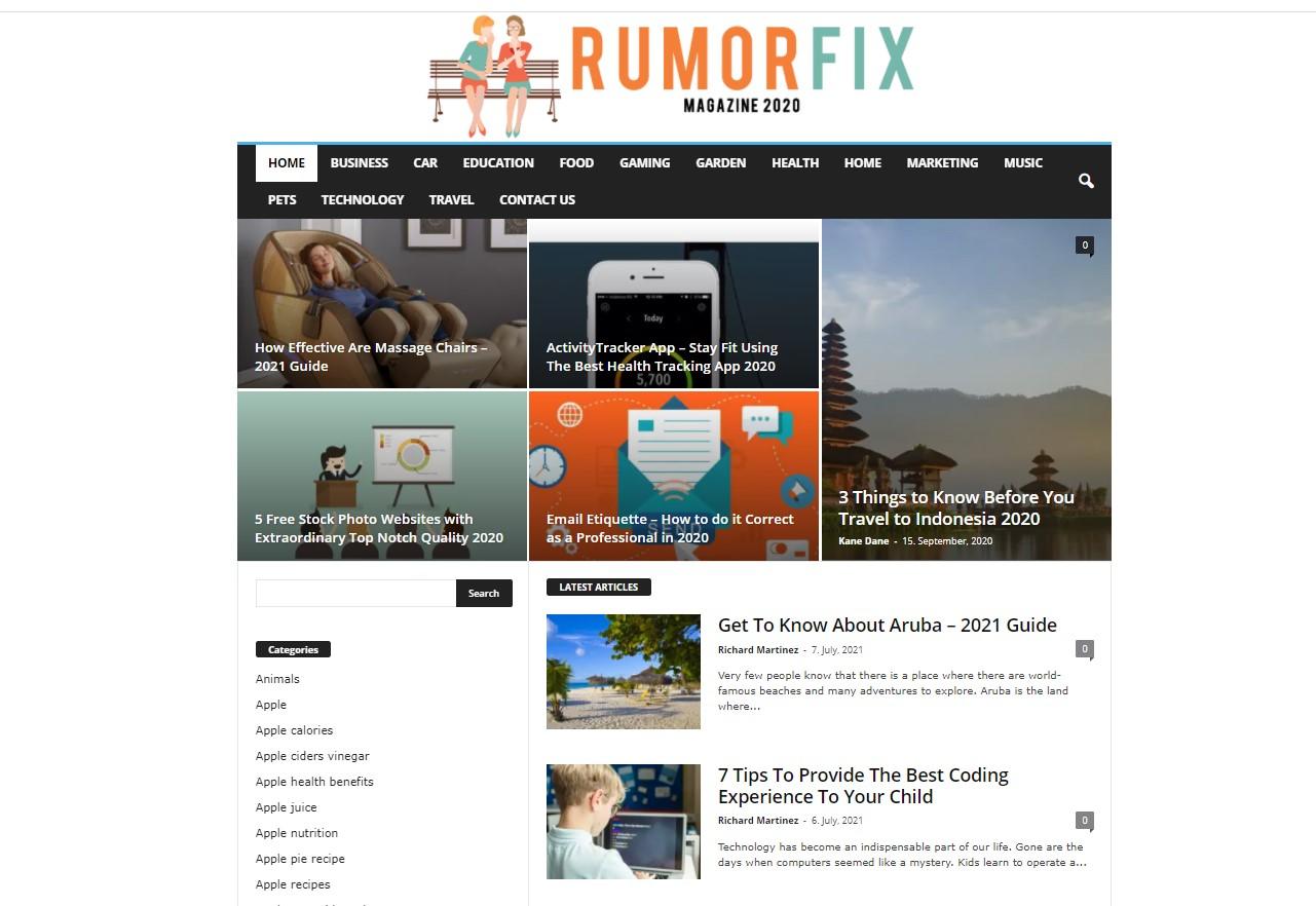 Premium DA-82 Dofollow High quality Guest post on rumorfix. com