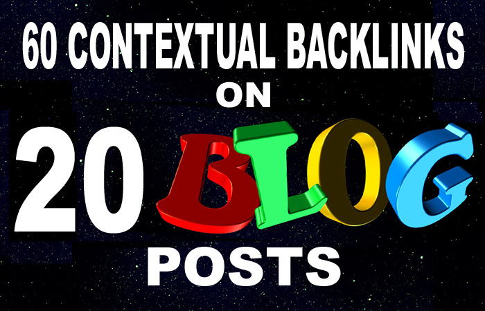 Create 60 Contextual Backlinks on Web 2.0 Blog Posts