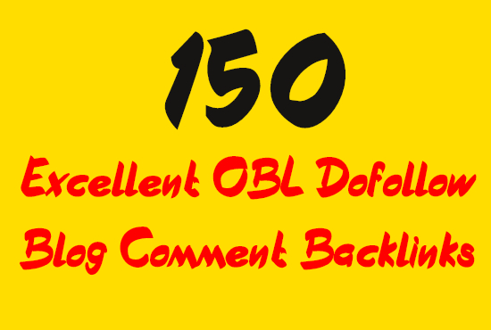 create 150 blog comment backlinks from low obl do follow sites