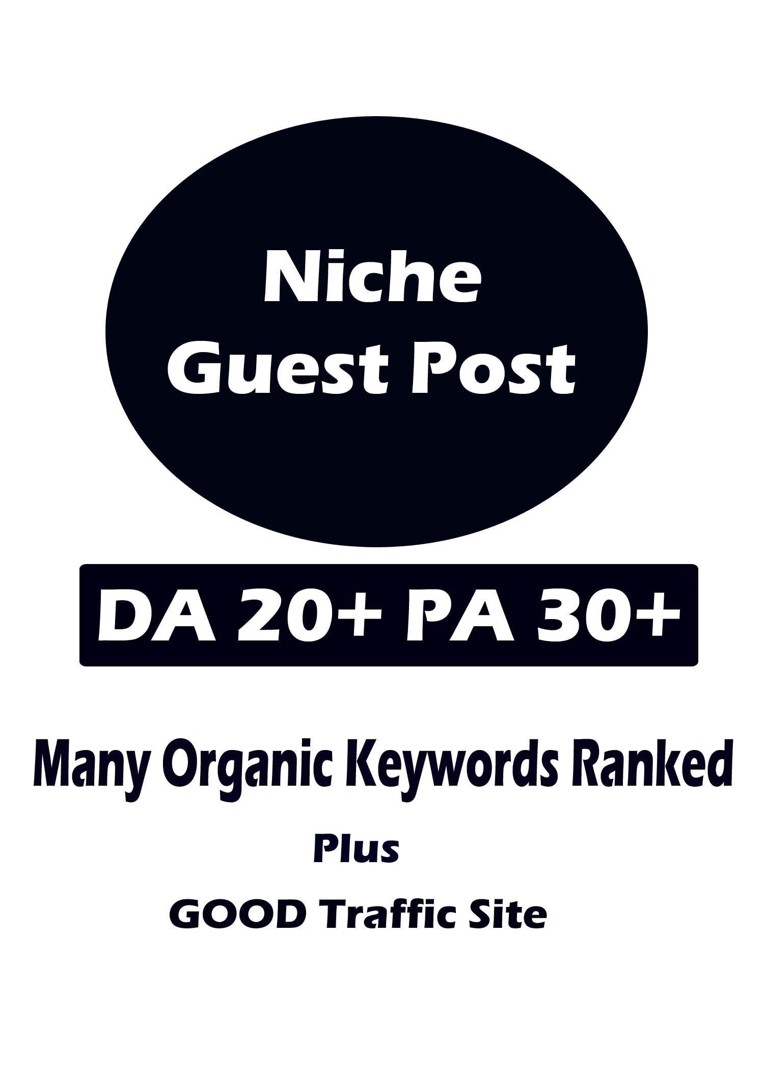 Niche Guest Post on DA 20 plus PA 30 plus sites