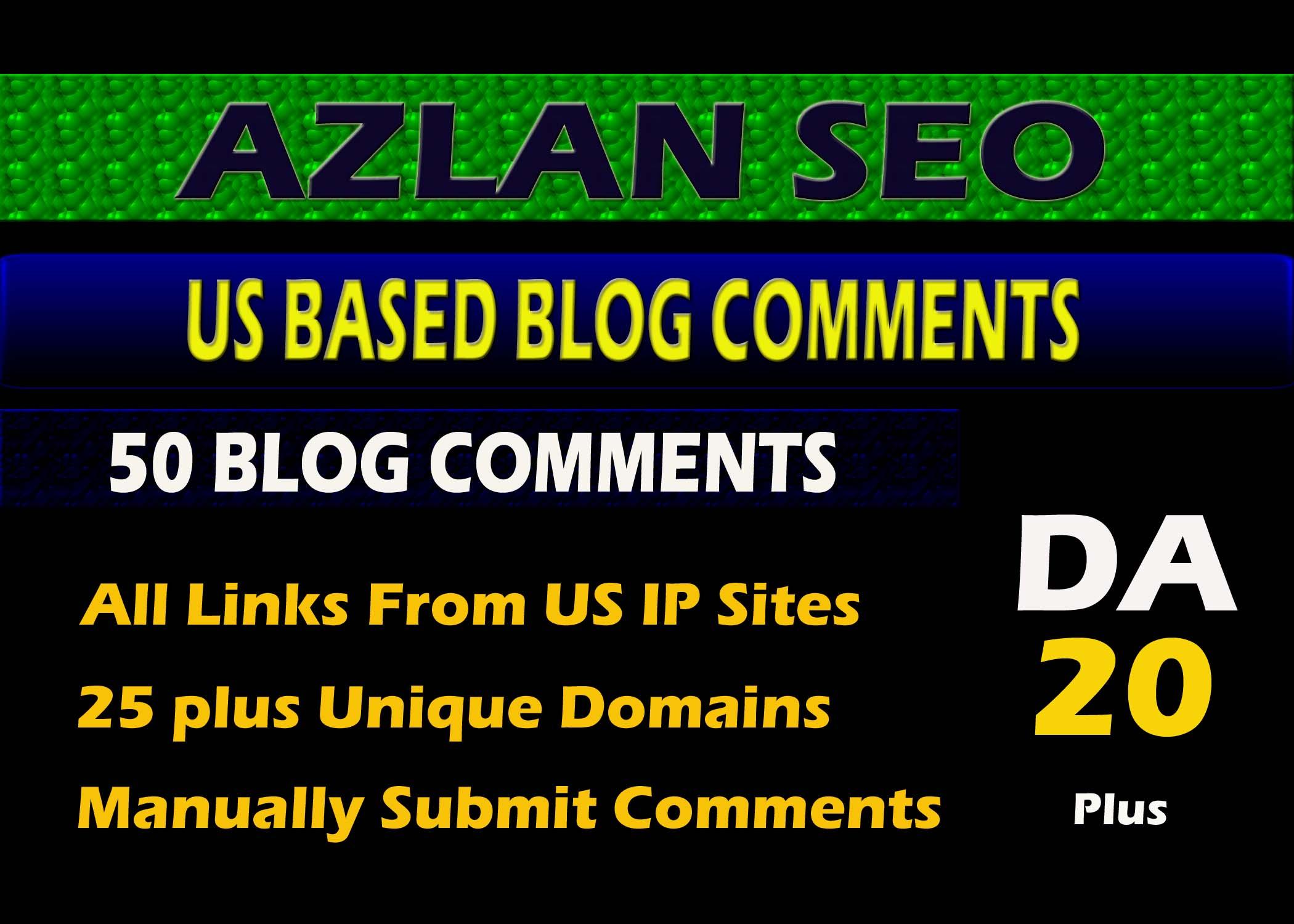 i will do 50 US based blog comments on high DA sites