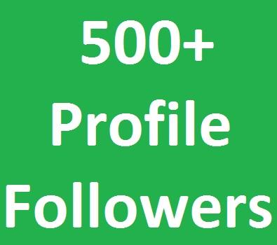 500+ Social Media Profile Followers very fast