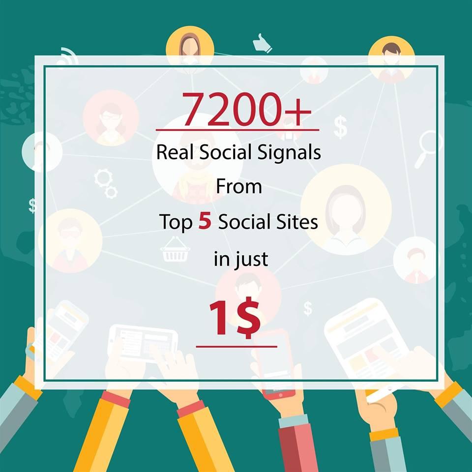 Power Full HQ Organic 7200 Social Signals from Top Social Media Site