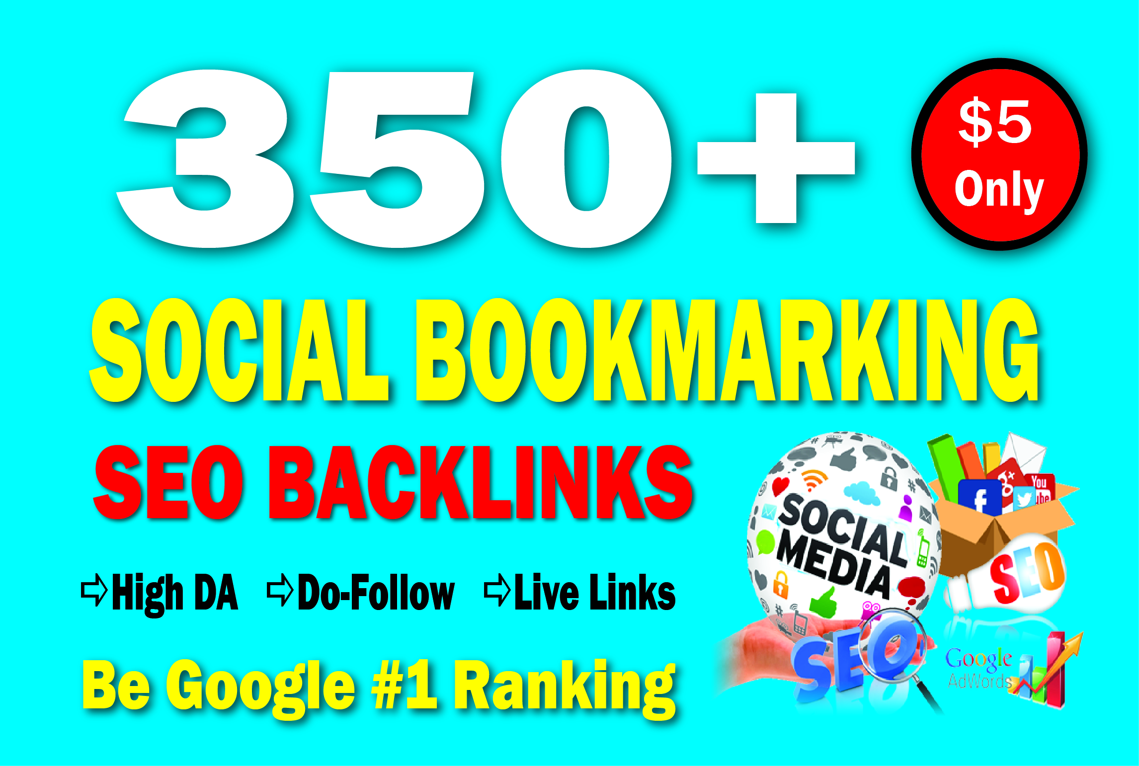 350 High Authority Social Bookmarking SEO Backlinks to Rank Your Website Google 1