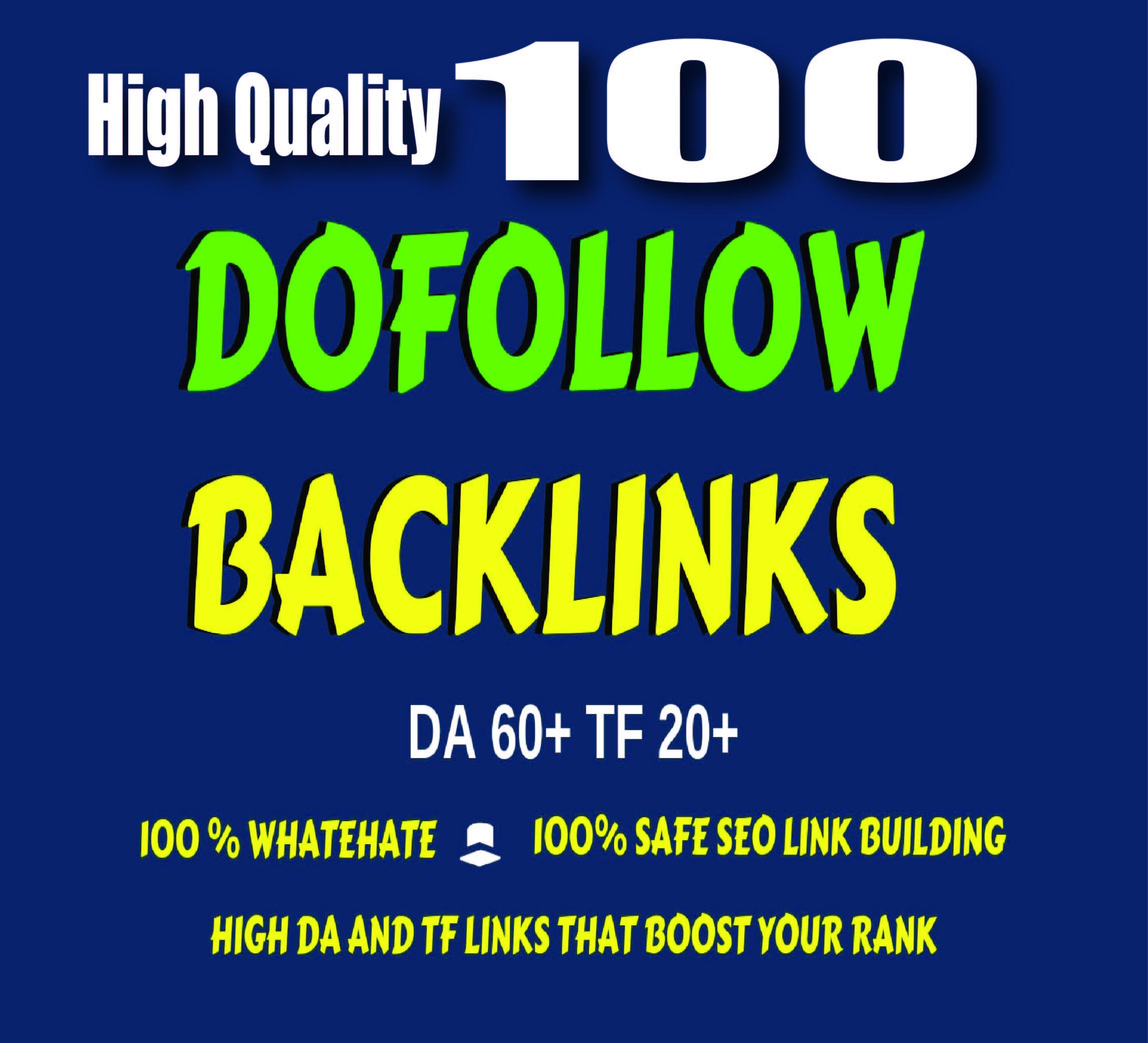 High quality 100 Do-Follow SEO Backlinks for Google Ranking