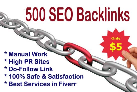 Build High Quality 500 SEO Backlinks for Boost Your Website Ranking