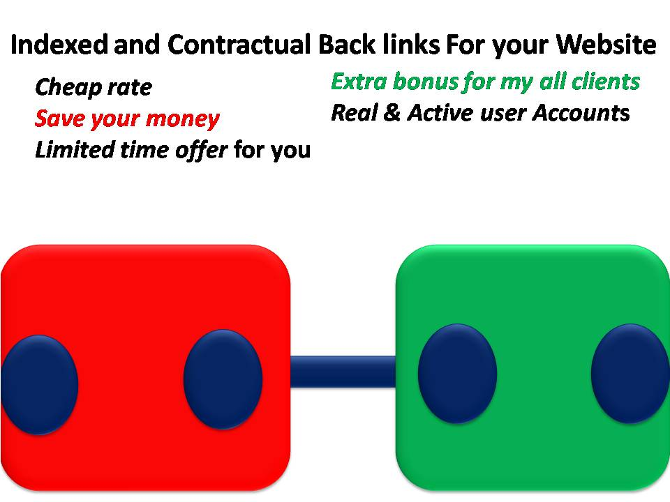 Get 105 High Quality Indexed and Contractual Back links For your Website
