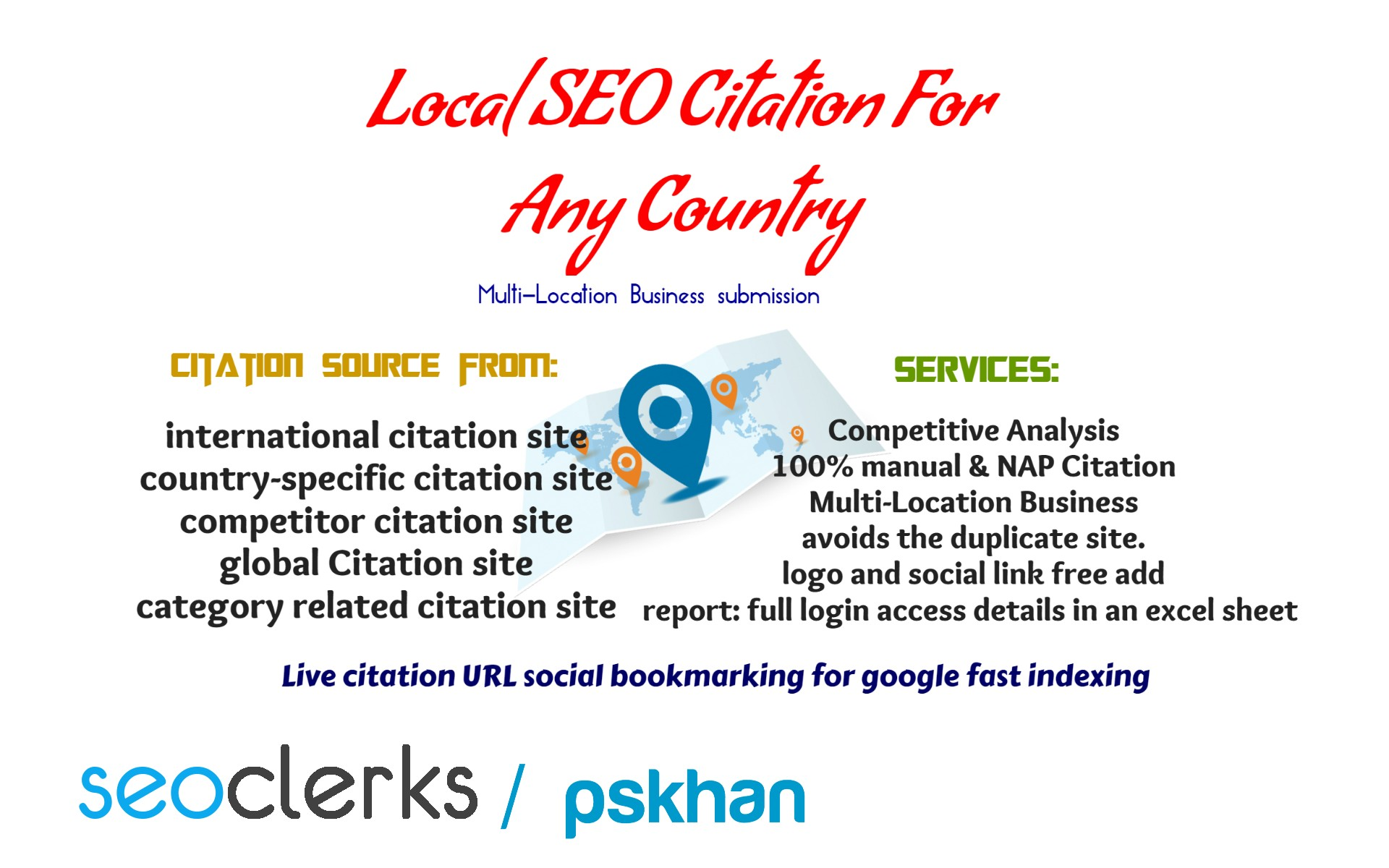 100 Local SEO Citation For Any Country