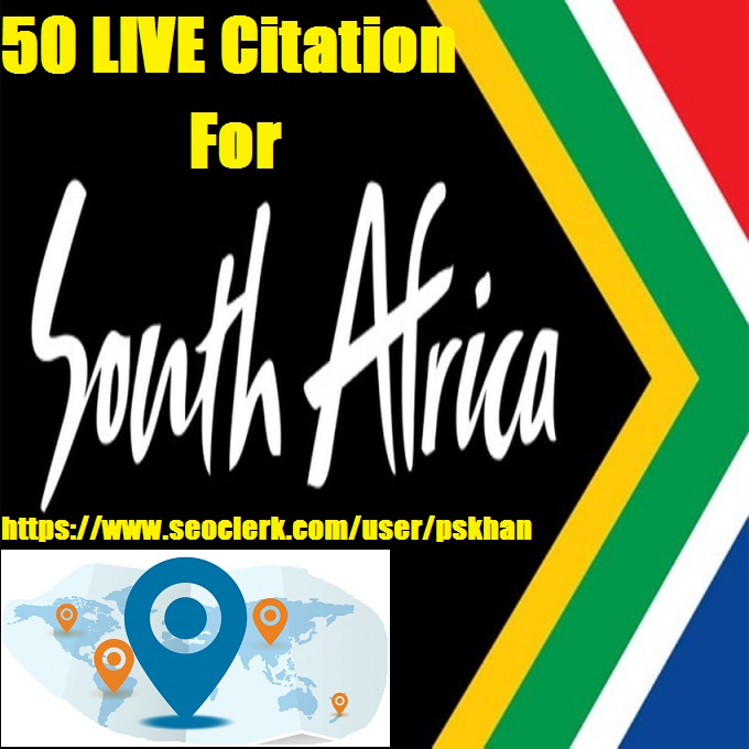 50 live Local citation for South Africa