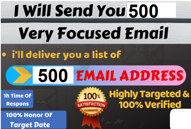 I Will Create Targeted Audience 500 Email List For Email Marketing !!
