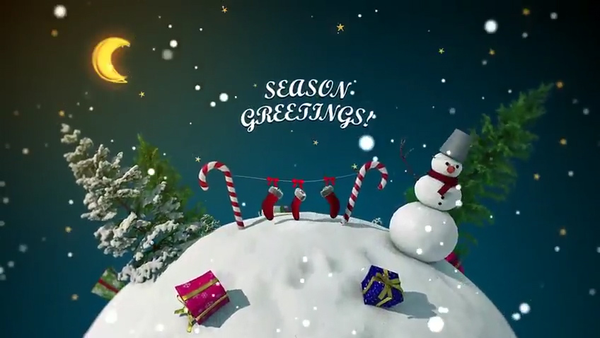 Christmas Greeting Videos With Intro Logo