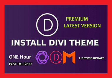 install premium divi theme with plungings and elegant themes lifetime updates