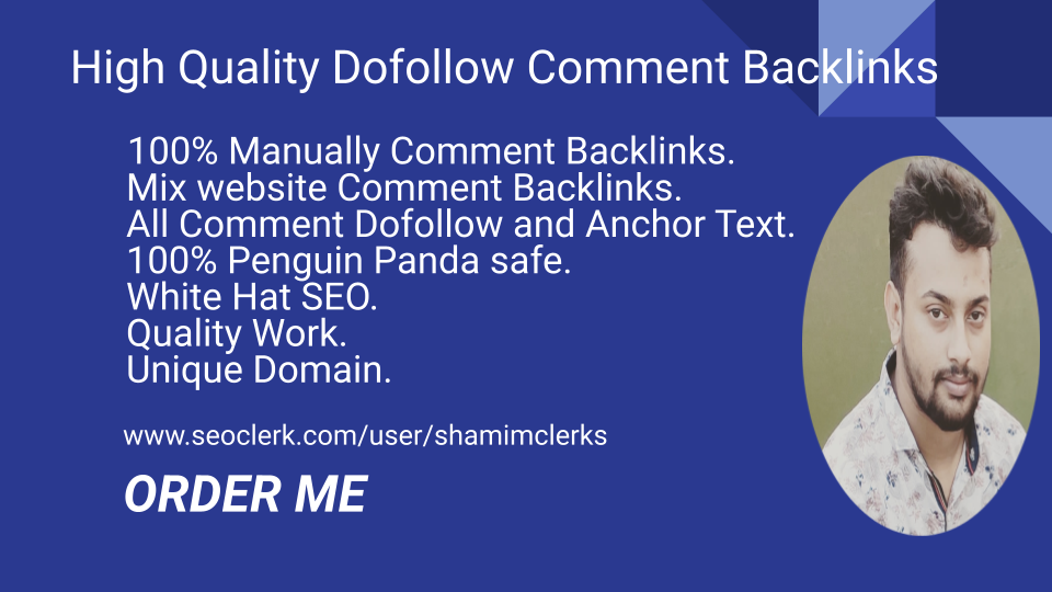 I Will High Quality 200 Do Follow Blog Comment Backlinks