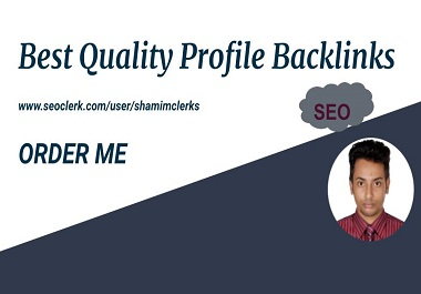 I will provide you 50+ Best Quality Profile Backlinks