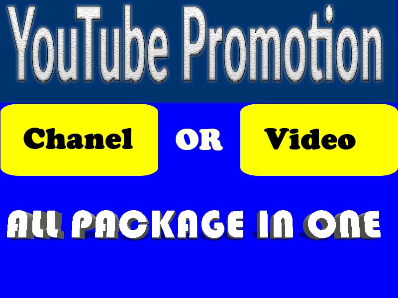 YouTube Video or Chanel Promotion Real and HQ Service