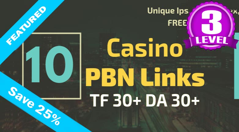 10 Judi or Poker or Casino Site Backlink PBN Backlinks on HIgh Authority Sites