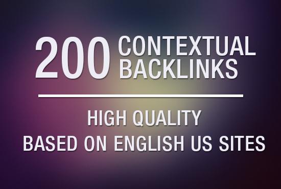 High Quality 200 Contextual Backlinks US Site Google Ranking SEO Service