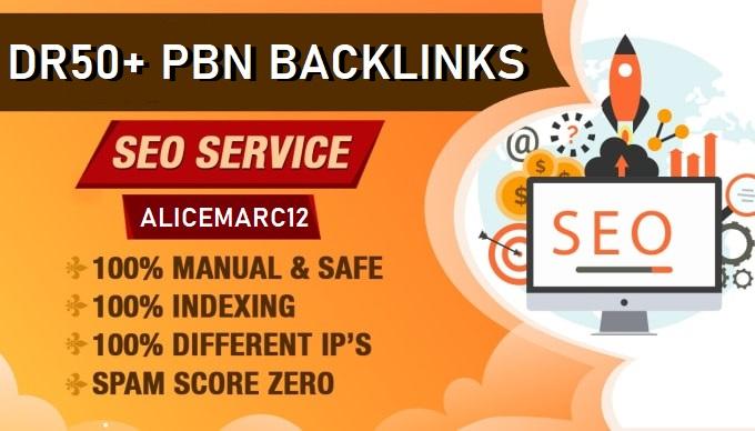 Build 20 DR 50+ Dofollow Permanent PBNs Backlinks