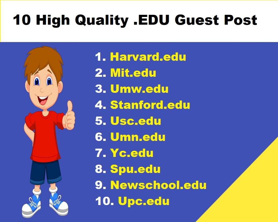 Write & Edu Post On 10X USA Top Ranked University DA55-95+