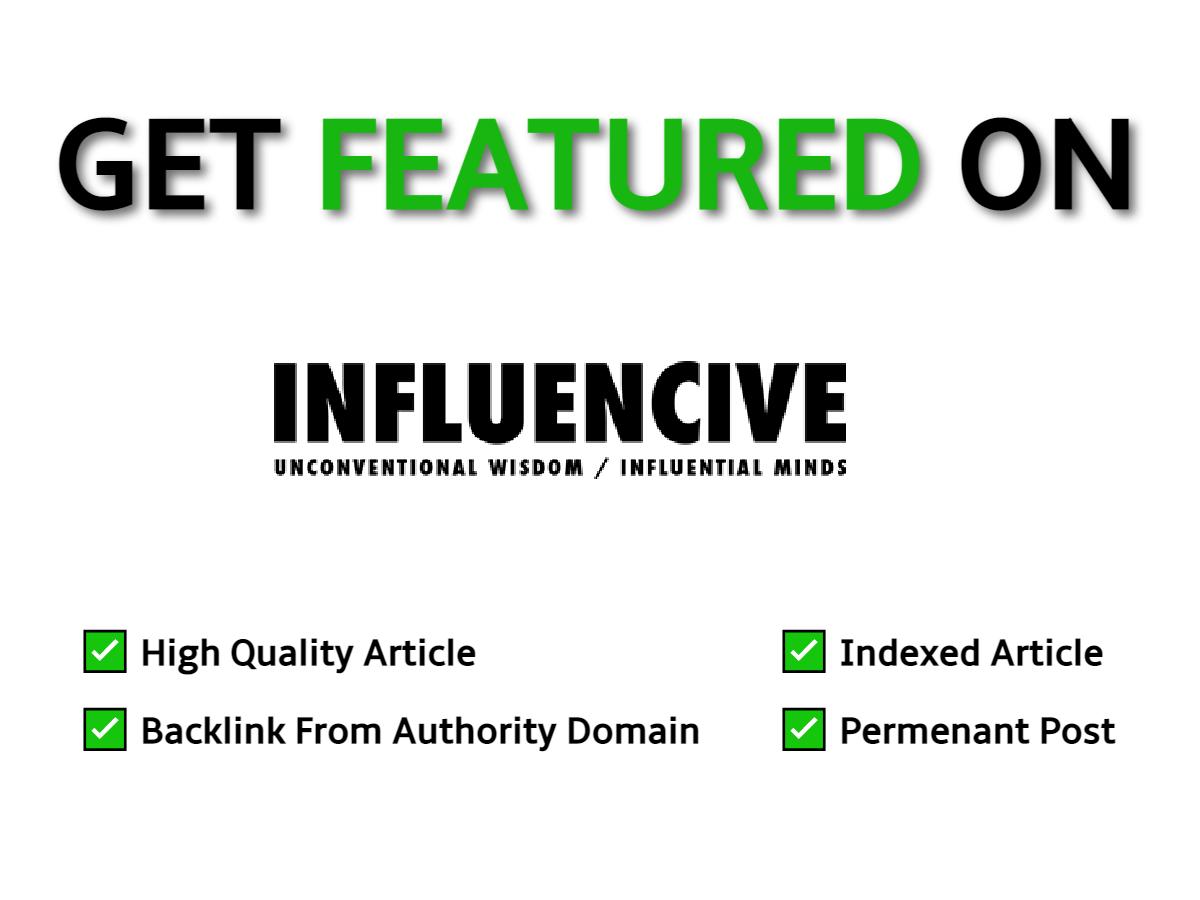 Guest Post On Google News Approved Website Influencive. com DA51