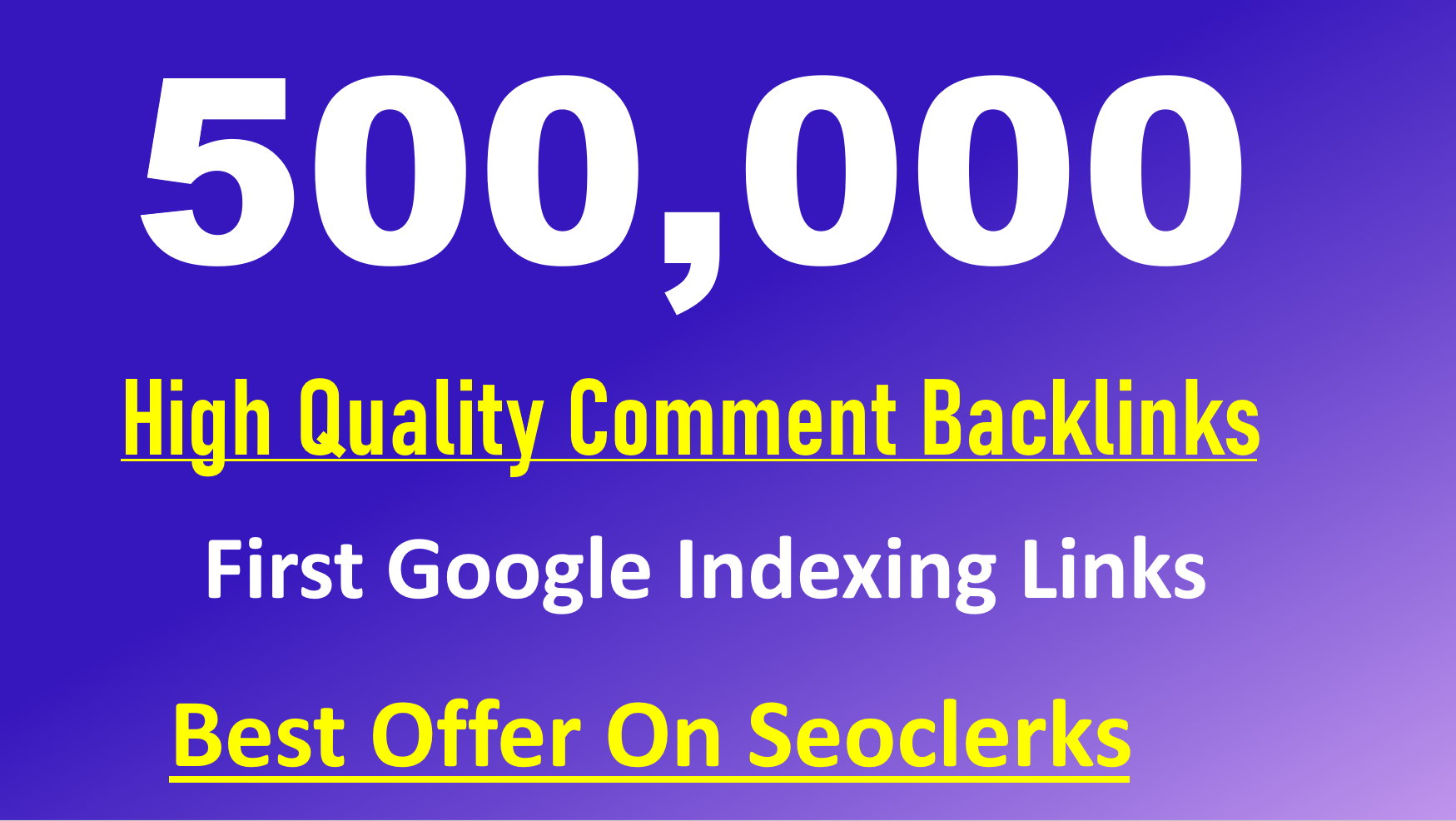 create 500k quick indexing blog comments backlinks by scrapebox