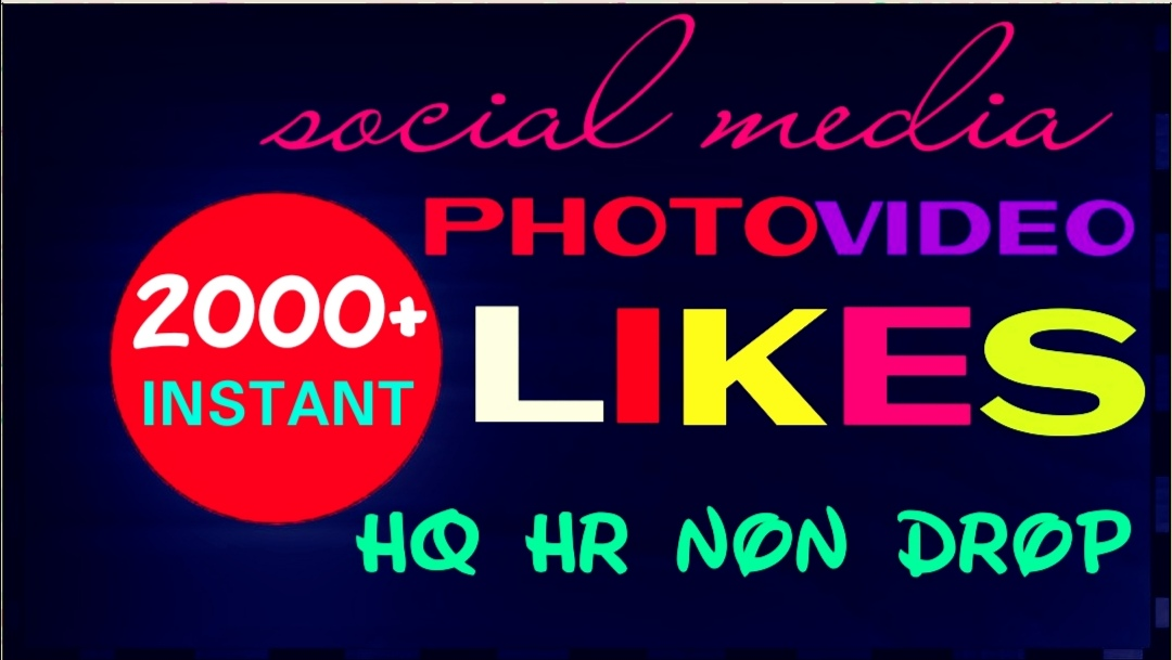 Provide 2000+ HQ, Non Drop Social Post or Photo Promotion Instantly
