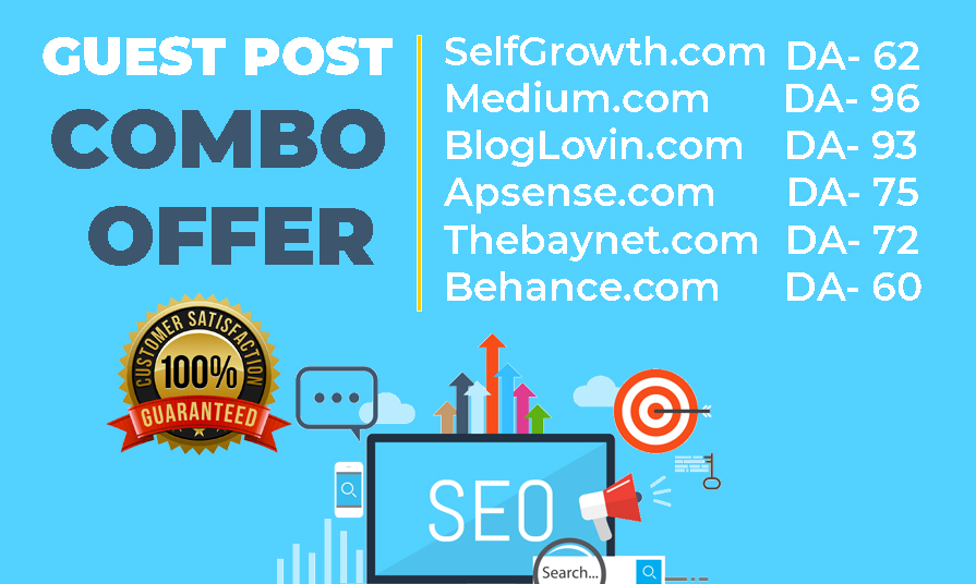 15x DA90+ Guest Post Including Article Writing Service No Extra Cost