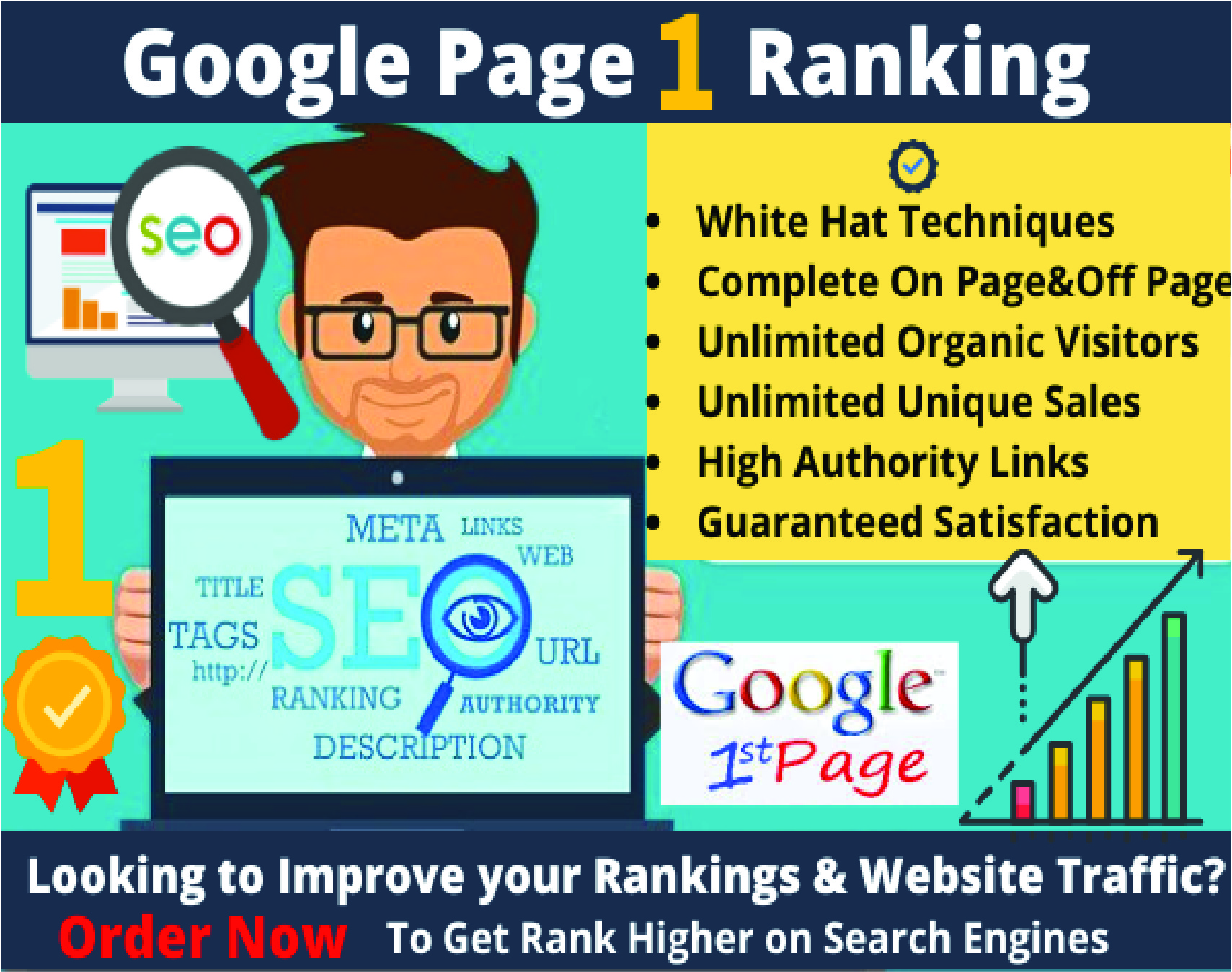 Rank Your Website Google First Page With White Hat SEO Or Get Money Back