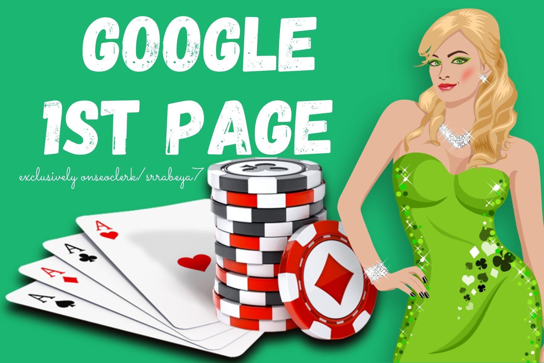 Poker/Casino/gambling/betting 1st page of Google Combo Power SEO Ranking Guaranteed