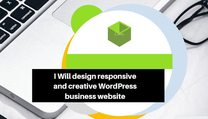 I will design responsive, creative Wordpress business Website