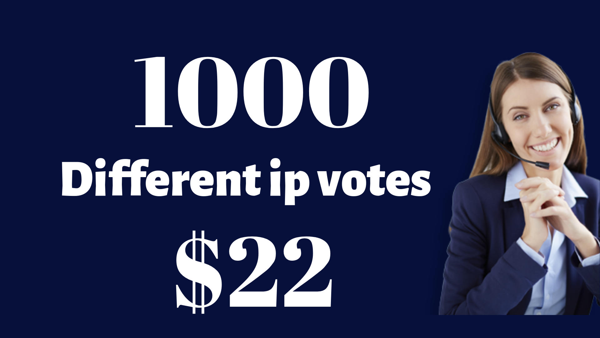 Offer 1000 Guaranteed Different IP Votes In Your Voting Contest