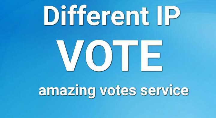 Give offer amazing 200 different IP votes your online contest voting entry polls for $5