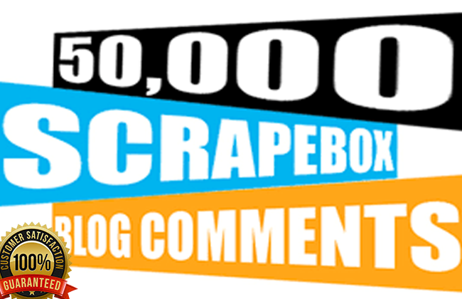Make 50 000 blog comment backlinks from SCRAPEBOX Blast For High Ranking