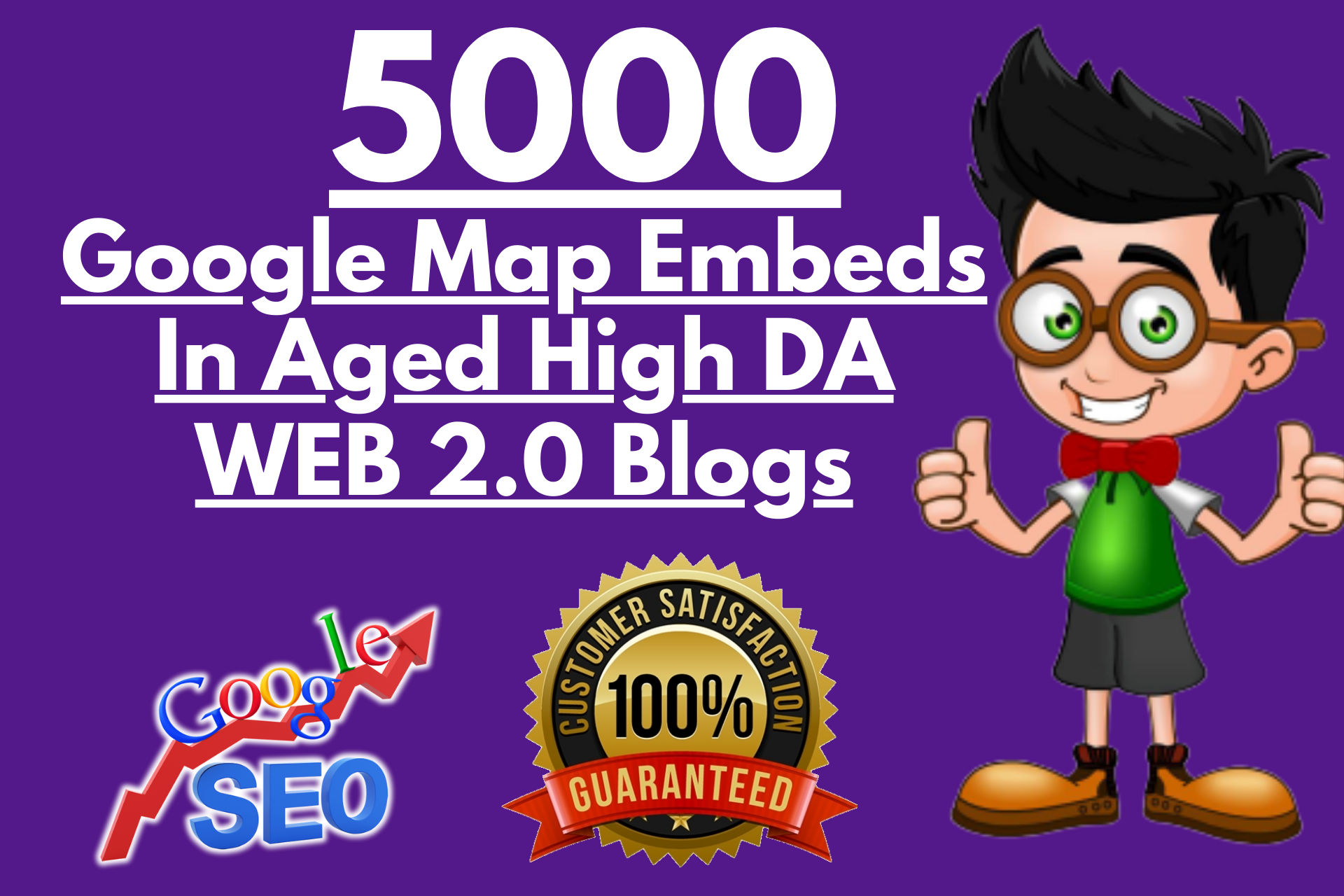 I will embed google map in aged web20 blogs to skyrocket local SEO
