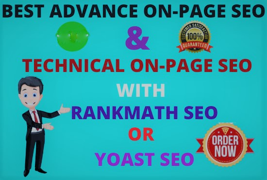I will do complete wordpress on page seo with rank math or yoast