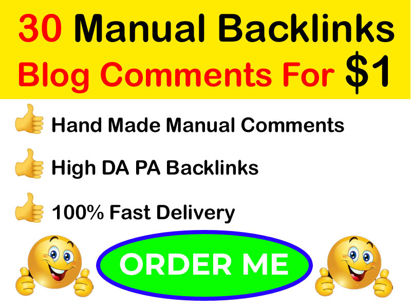 I will create powerful 30 SEO blog commenting backlinks manually