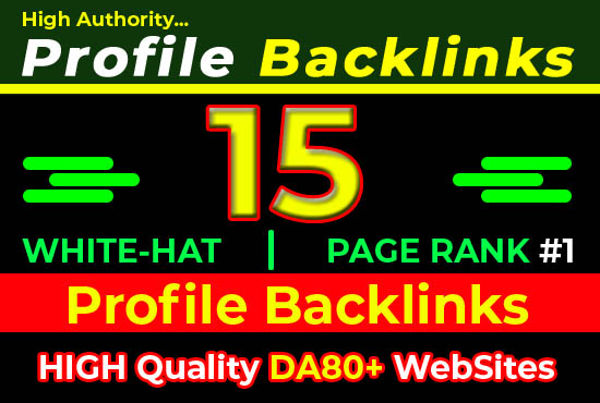 SEO White Hat Profile Backlinks Google Top Ranking Guaranteed