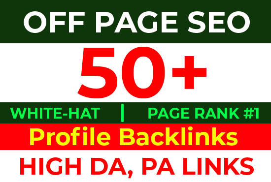 I Will Create Manually 50+ High Authority DA,  PA Social Profile Creation Backlinks for Website Rank