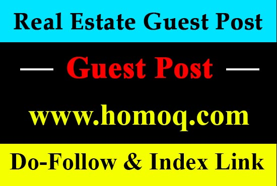 I will guest post on my real estate niche site with a dofollow link