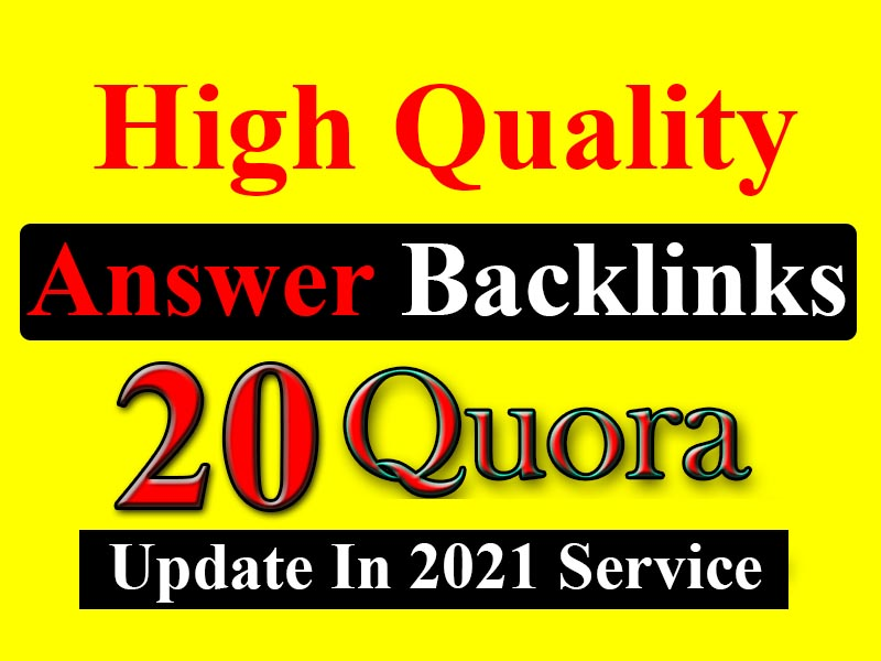 I will do quora answer backlinks with seo clickable links