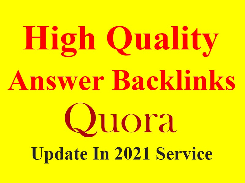 I Will Provide You 50 HQ Quora Answer Backlinks